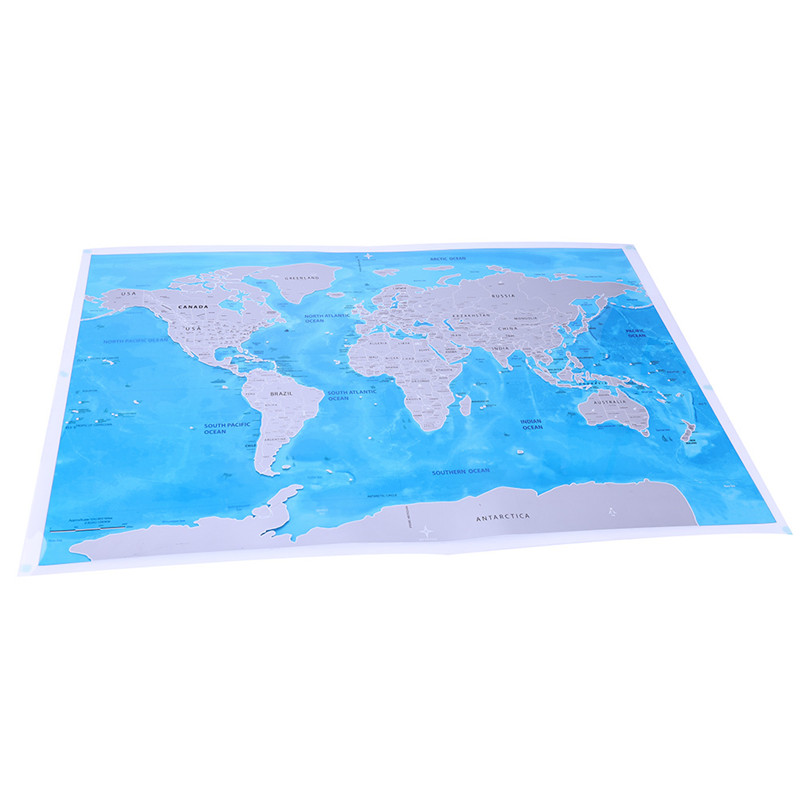 Deluxe Edition Scratch Of World Map And Travel World Poster Map Oceans 9