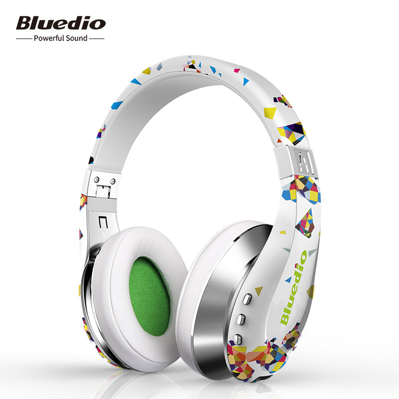 цена на Bluedio A (Air) Fashionable bluetooth 4.1 wireless Headset with microphone 3D Surround Sound headphones