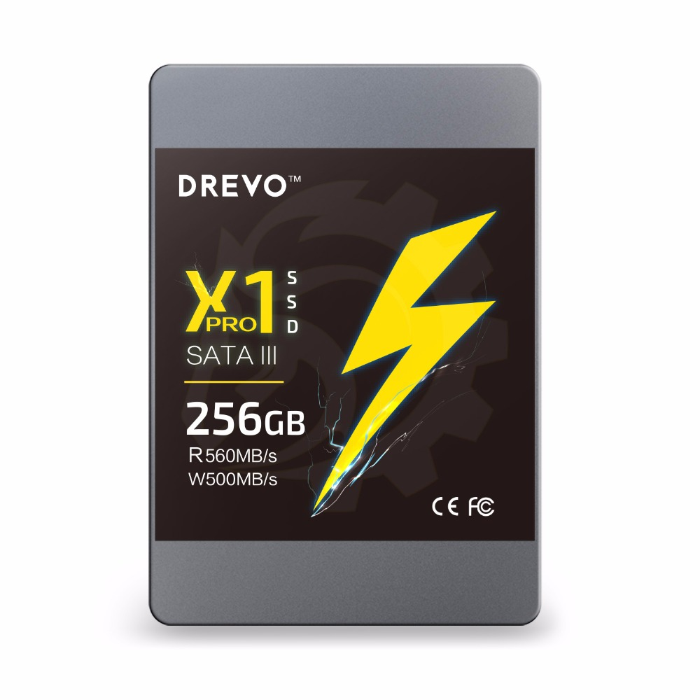 DREVO X1 Pro SSD Internal Solid State Drives 256gb Upgrade SATAIII Read 560MB/S Write 500MB/S