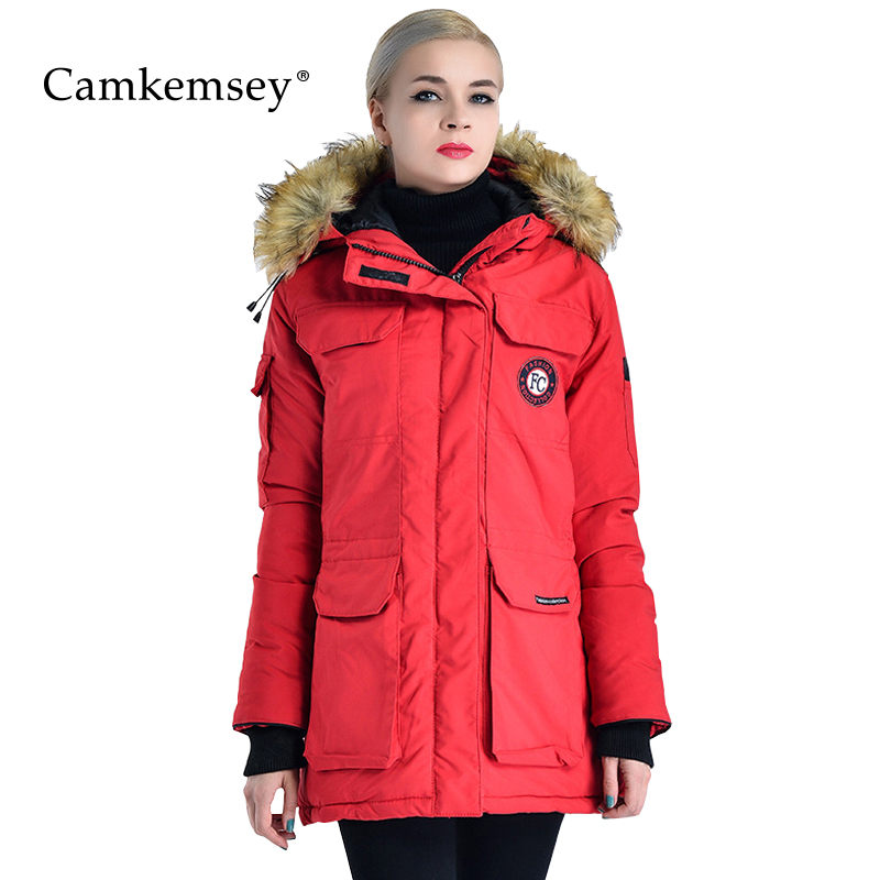 CamKemsey Plus Size Winter Coat Women Warm Thick Down Cotton Parkas Women Hooded Fur Collar Down Jacket Women Overcoat big fur collar hooded down jacket 2017 new winter women padded coat warm down cotton parkas overcoat plus size 3xl a626