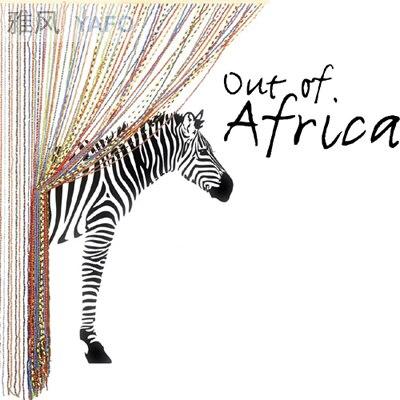 Darmowa Wysyłka Hurtowa i Detaliczna Afryki Żyrafa Zebra Zwierząt Naklejki Ścienne Dekoracje Ścienne Naklejka Ścienna Papier Home Decor