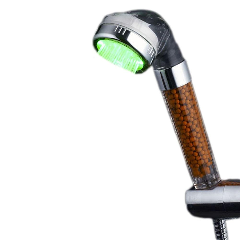 7 Colors Change Led shower Tourmaline SPA Anion Hand Held Bathroom Led Shower Head Filter Hand Shower Saving Water