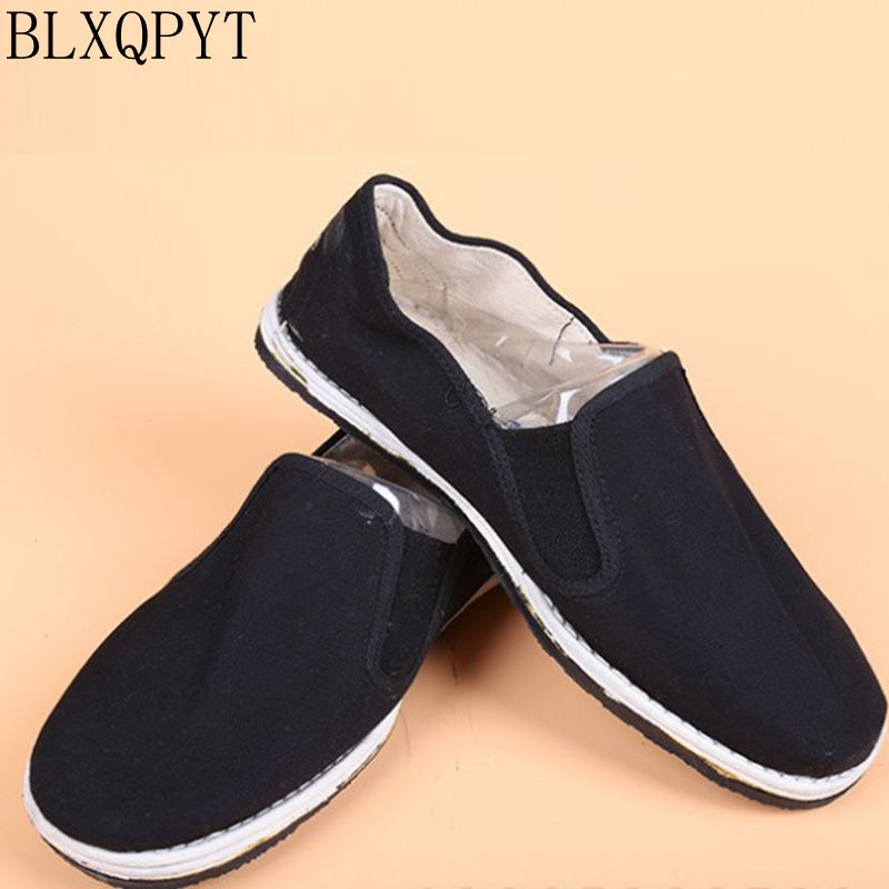 Big size 36-45 Casual Cloth Shoes Woman Flats Soft Comfortable women Shoes Black Non-slip Sole Cotton Breathable 085 france tigergrip waterproof work safety shoes woman and man soft sole rubber kitchen sea food shop non slip chef shoes cover