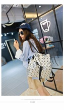 Высокое качество Женщины Bao рюкзак женственный геометрический плед блесток BAOBAO сумка женская в сложенном виде геометрический плед мешок с логотипом