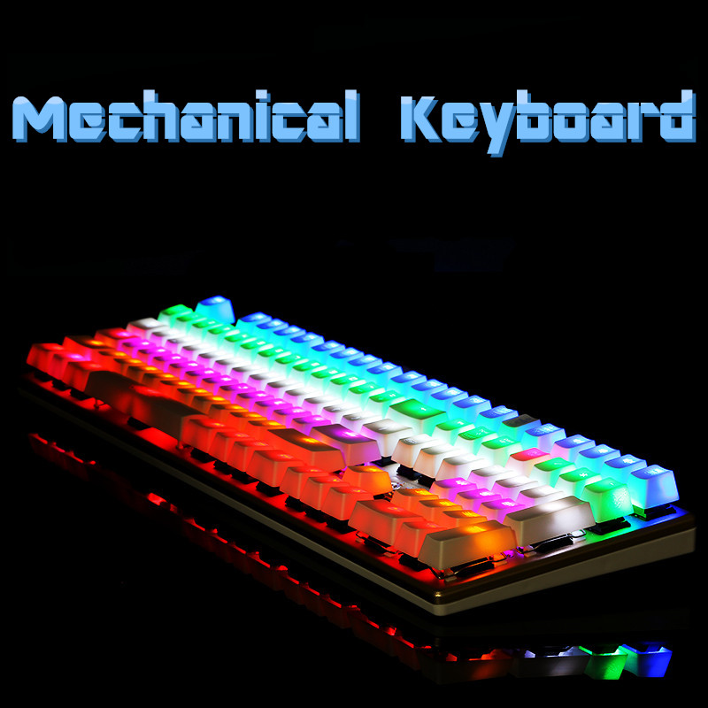 The wielder  Gaming Genuine Mechanical Keyboard Switch Anti-ghosting Luminous 87 LED Metal Wired Keyboard
