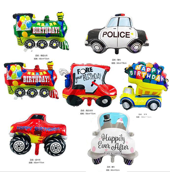 1pcs cartoon Car Foil Balloon Wedding Car Truck Train Balloon baby shower Happy Birthday Party Decor Globos Kids Toys gift image