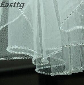 Image 3 - Свадебная фата, свадебный аксессуар цвета шампанского, белого, слоновой кости, длина 3 м