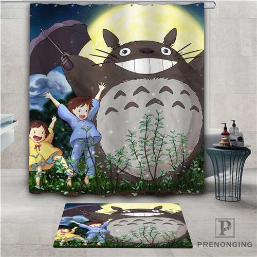 Custom Totoro (1) Waterproof Shower Curtain Doormat Home Bath Bathroom Polyester Fabric Multi Sizes#2019-01-12-214