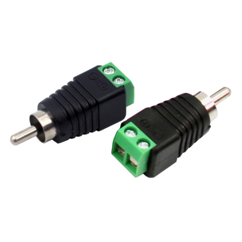 US $2 4 20% OFF|Mayitr 10Pcs Speaker Wire Cable to Male + Female RCA  Connector Adapter Plug Jack Connectors For RCA Adapter on Aliexpress com |