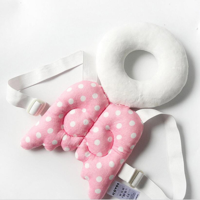 4-14 Months Baby Head & Back Protection Pillow Toddler Cute Wings Drop Resistance Pad