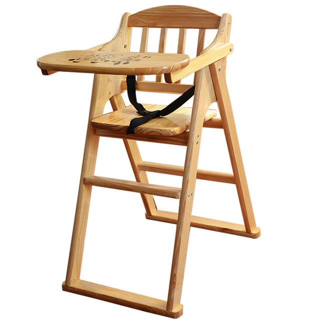seat high chair adirondack with cup holder soild wood baby portable infant folding children feeding chairs