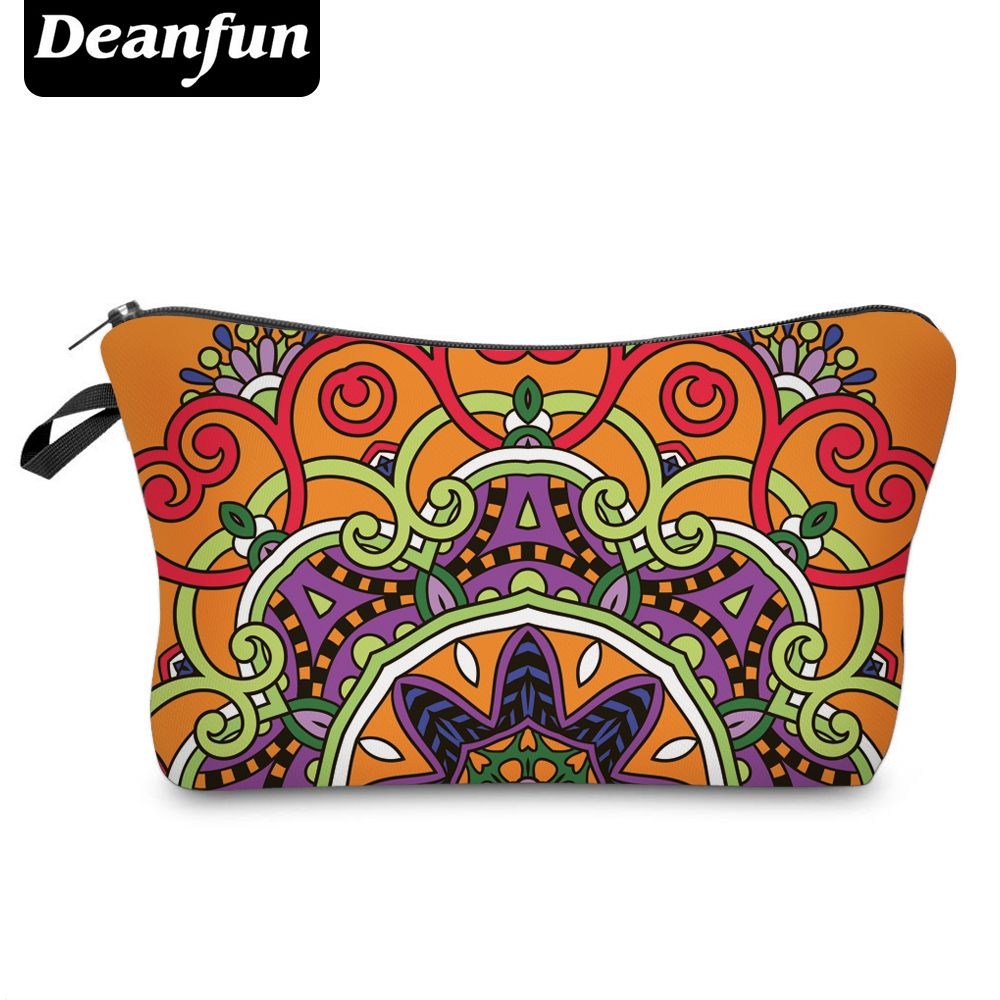 Deanfun 3D Printed Vintage Cosmetic Bags Orange Polyester Women Toiletry Storage 50963 #
