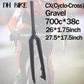 CX Ciclocross Ghiaia UD Completa In Fibra di Carbonio Della Bicicletta mtb rigida Forcella viaggio Strada di montagna della bici Freno A Disco Anteriore di Ricambio 700c cono