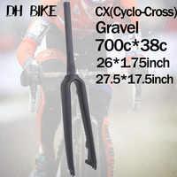 CX MTB 29er Fork For Disc Brake UD Carbon 700C MTB Fork Cyclo Cross Gravel Travel Rigid Carbon Road Bike Fork 26er Bicycle Parts