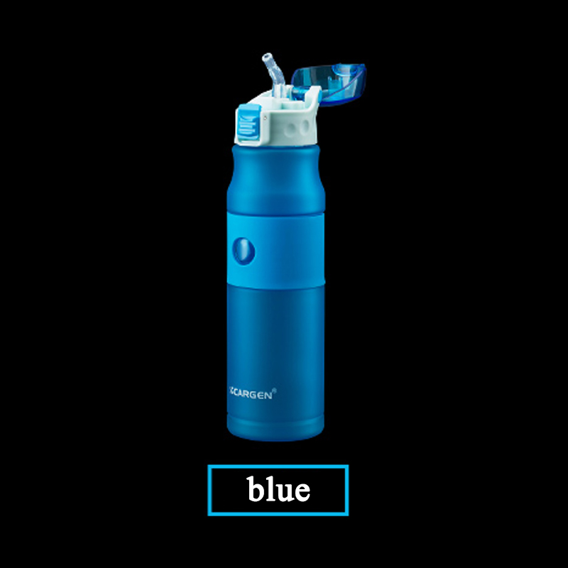 Image 4 - 600ml Plastic Water Bottle sport bottle whit straw bottle cap with switch Travel kettle flask bottle for sport running cycling-in Sports Bottles from Sports & Entertainment
