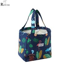 New Portable Lunch Bag Thermal Fresh Insulated Lunch Box Tote Cooler Bags Bento Pouch Lunch Container School Food Storage Bags цена 2017