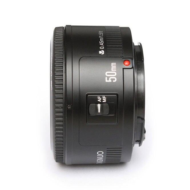 Objectif YONGNUO YN EF 50mm f/1.8 AF à ouverture automatique objectif YN50mm f1.8 pour appareils photo reflex numériques Canon EOS - 4