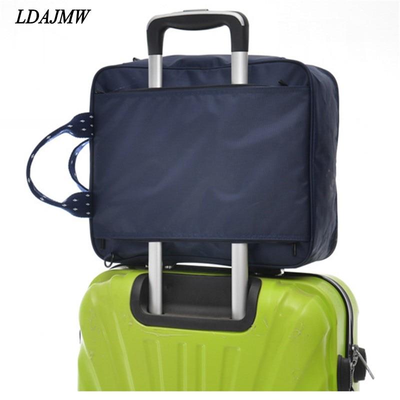 LDAJMW High quality Fashion Leisure Travel Xiekua Package Storage bag Hanging Luggage Clothing Organizer Bag For Woman and Man