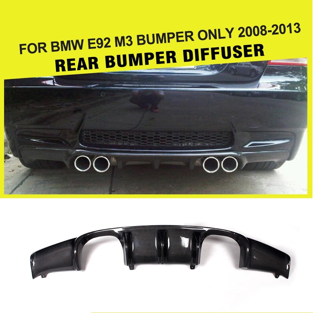 En Fiber De carbone/FRP Noir Auto Voiture Pare-chocs Arrière Garde Lip Diffuseur pour BMW E92 M3 2008-2013 Ajouter sur le Style