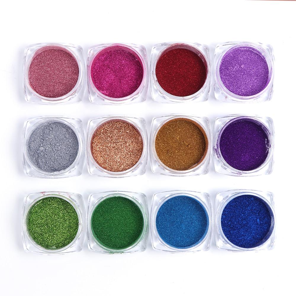 Зеркальный лак для ногтей, порошковая голографическая металлическая розовые, золотые, серебряные пылезащитные блестки, УФ-гель для ногтей, хромированное пигментное украшение CHC/ASX