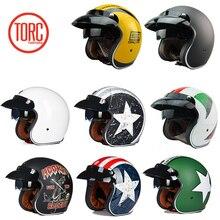 Torc 3/4 с открытым лицом винтажный СКОТТЕР jet moto rcycle шлем moto cross capacete мотошлем Ретро casque casco para moto cross vespa