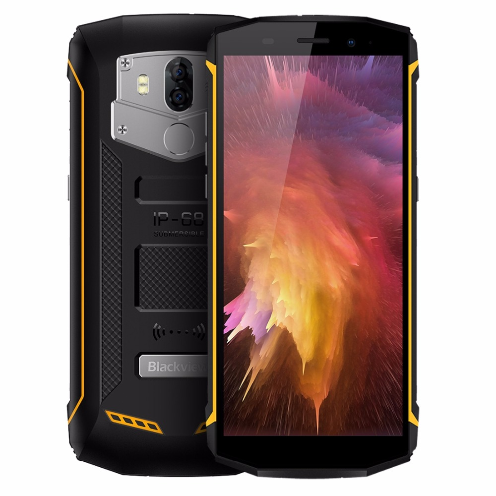 Blackview BV5800 Pro Smartphone IP68 Waterproof 5.5 18:9 HD+ Android 8.1 Mobile Phone Dual Rear Camera 13.0MP NFC GPS Cellphone