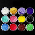 12 Pcs/Set Colors Mica Pigment Powder Perfect Cosmetics Resin Colorant Dye Face Body Eyes Make Up Care Tools