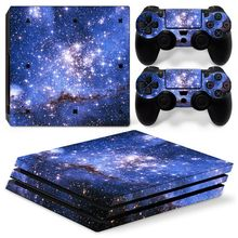 Sky Stars For PS4 Pro Sticker Cover Wrap Console   2PCS Controller Skin  Decal For Sony 064bf634c8d