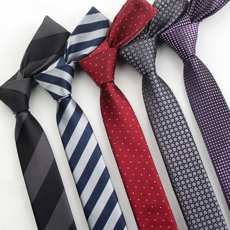 Men Ties Necktie Men's Vestidos Business Wedding Dot Tie Male Dress Legame Gift Gravata England Stripes JACQUARD WOVEN 5cm