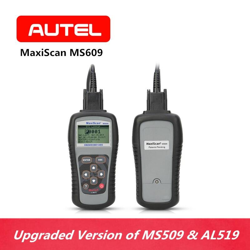 L'outil de Diagnostic de voiture de système d'autel Maxiscan MS609 peut OBDII OBD2 lecteur de Code de Scanner éteint le moteur MIL ABS voyants d'avertissement DTC