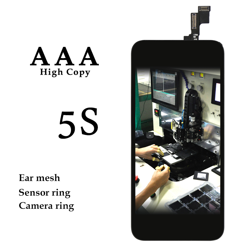 imágenes para 30 Unids/lote AAA Calidad Sin Píxeles Muertos LCD con digitalizador Asamblea de Cristal Para el iphone 5S Replacement100 % Probó El Envío Libre a través de DHL