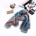 Winter Chevron Long Geometric Shawl Cute Women Wave Stripe Warm Scarves Female Fashion Flower Print Plaid Zig Zag Scarf Wrap