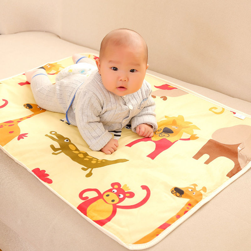 75*120 Baby Changing mat Infants Portable Foldable Washable waterproof mattress children game Floor mats cushion Reusable Diaper baby cotton changing mat portable foldable washable infants changing mat diaper pad changing pads