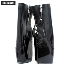 jialuowei New Wedge high heel sexy appr. 7/18cm Strange curved women ballet ankle boots fetish patent pu