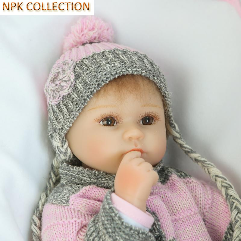 NPK COLLECTION 15 Inch Silicone Reborn Baby Dolls Fake Baby Doll Silicone Toys for Girls Gifts,Real Looking Baby Alive Bonecas navigator велосипед двухколесный barbie