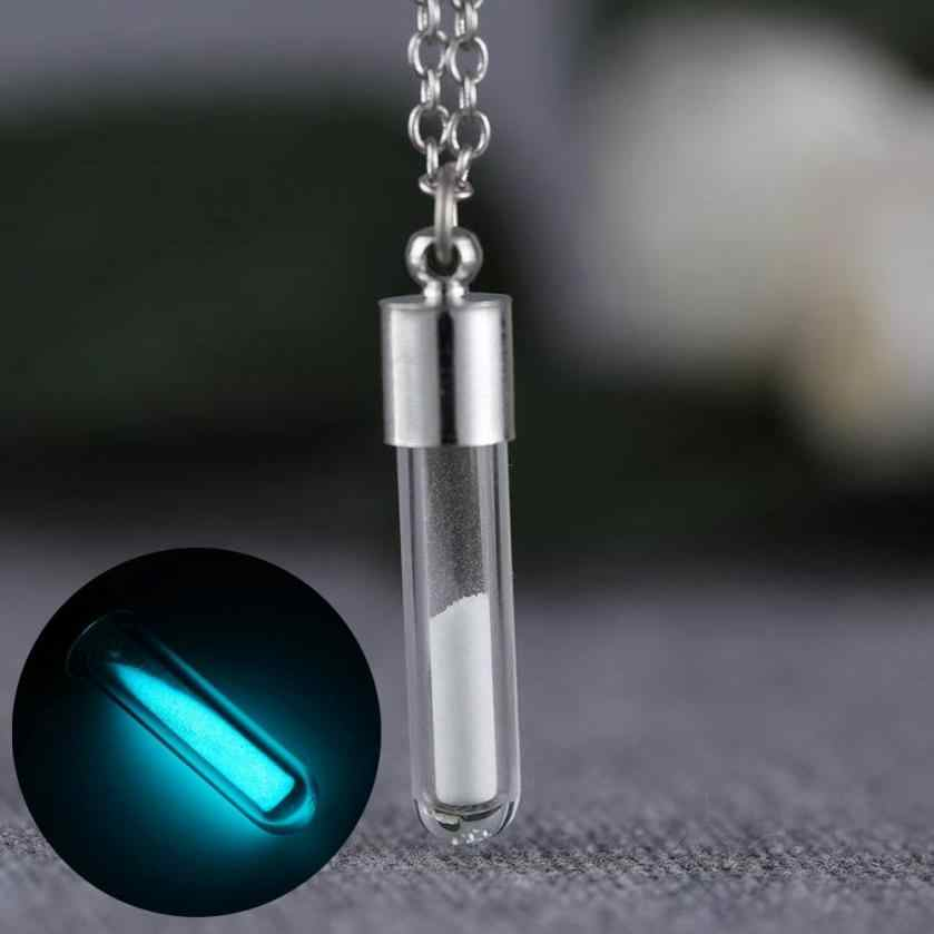 SUSENSTONE Jewelry Glow In the Dark Necklace Glass Bottle Necklace Pendant