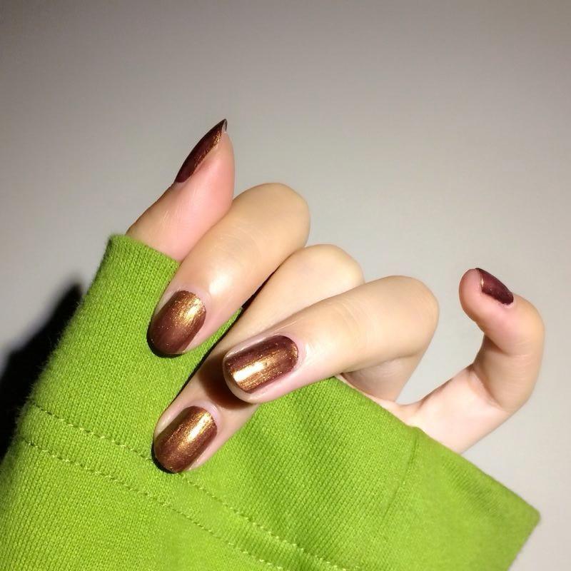 Momo 10ml Golden Nail Polish Bronze Color Normal Lacquer Long Lasting Super Shiny Regular Varnish Natural No Uv Lamp In From Beauty