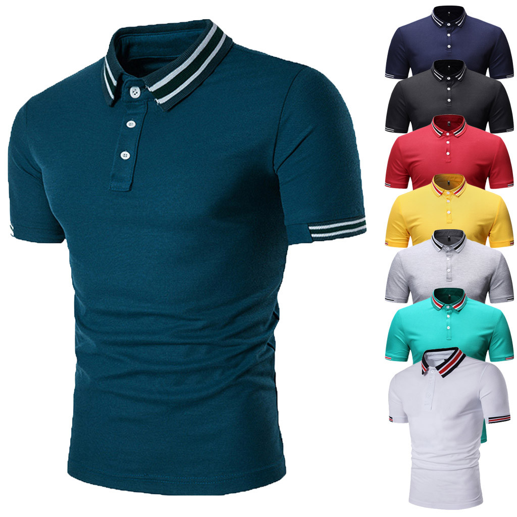 T-shirts Smart 2019 Roupas Men's Fashion Short Sleeve Painting Large Size Turndown Collar Casual Top Blouse Shirts Camisetas Hombre Tops & Tees