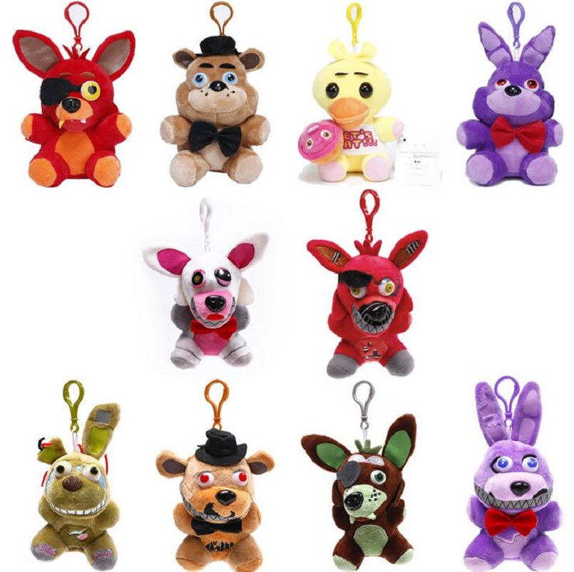 1 piece 25cm 14cm Minecraft Five Nights At Freddy Plush toys FNAF Golden Fazbear Nightma ...