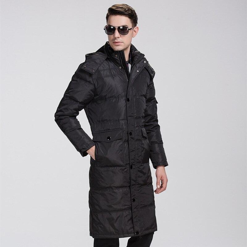 Plus xl-6xl 7xl 8xl (buste 160 cm) 2016 nouveau homme blanc canard doudoune grands yards décontracté long manteau