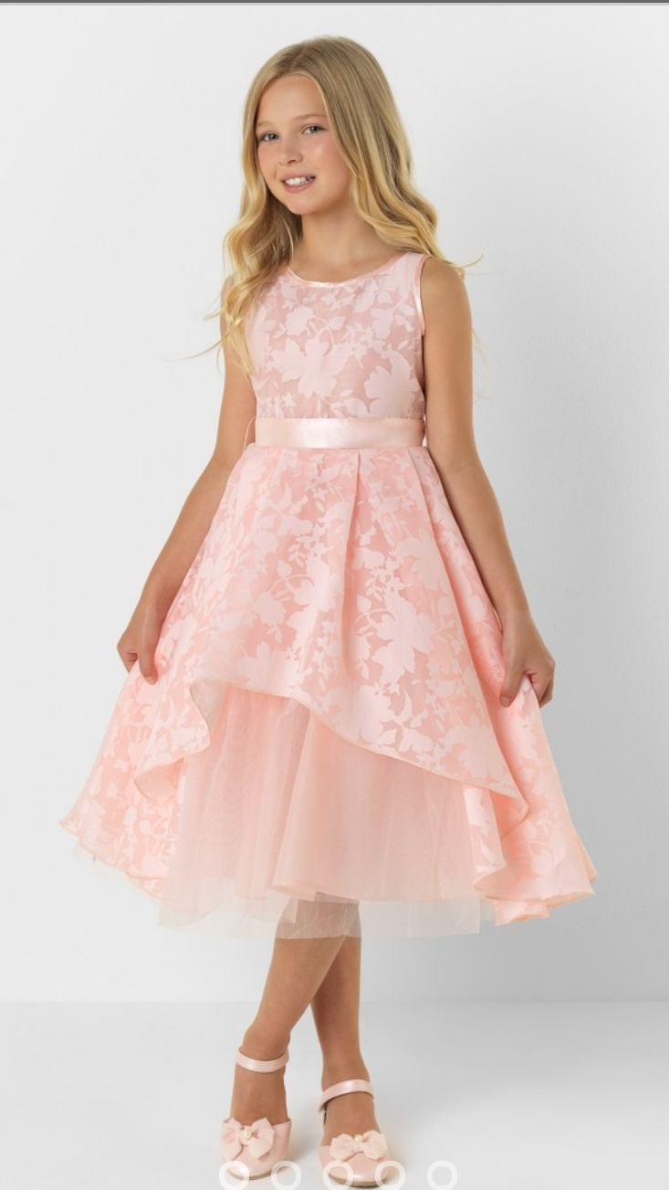 Pink 2018 Flower Girl Dresses For Weddings A-line Tulle Lace Ankle Length First Communion Dresses For Little Girls