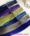 Лучшее качество бразильской реми волос шелк прямо на складе скидка красочные ленточное наращивание волос серый красный волос
