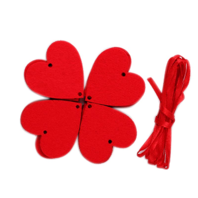 3M 16 Flowers String Decoration DIY Peach Heart Hanging Ornaments For Wedding Valentine\'s Day Wall Door Decoration