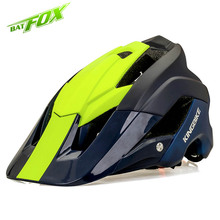 BATFOX Brand mtb Cycling Helmets 2018 New Ultralight Bike Safety Cap Integrally molded Bicycle Helmets casco