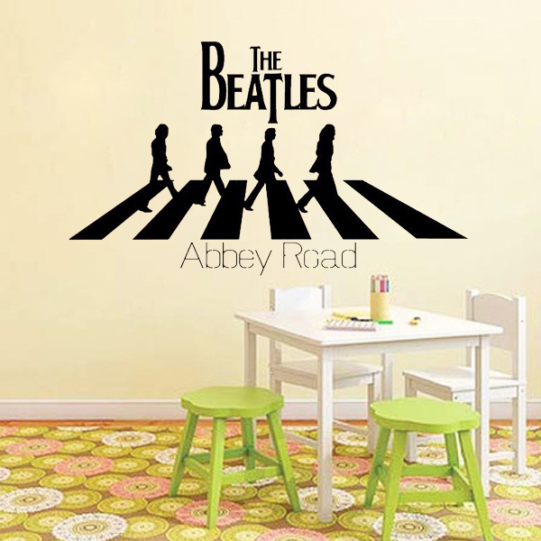 The Beatles Abbey Road Cool Music Wall Stickers Quote Lettering Home Decoration Art Vinyl Decor