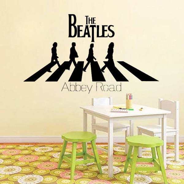 The Beatles Abbey Road Cool Music Wall Stickers Quote Lettering Home Decoration Art Vinyl Decor Sticker Family Decals