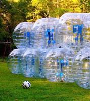 10 TPU bubble football with 1 free pump, 1 big pump. free shipping&free logo