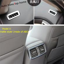 Yimaautotrims Front & Rear Air Conditioning AC Outlet Vent Cover Trim For Nissan Rogue T32 / X-Trail X Trail 2017 2018 Interior