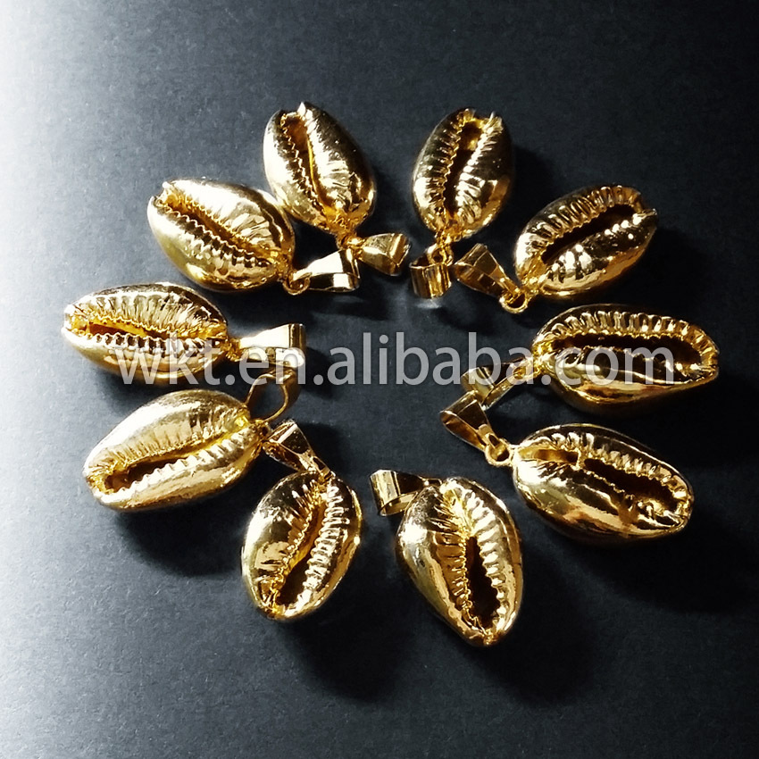 Wt p370 wholesale custom hot sales natural whole gold trim cowrie wt p370 wholesale custom hot sales natural whole gold trim cowrie shell charm pendant small cast seashell charm pendant in charms from jewelry accessories aloadofball Image collections