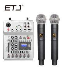 Professionelle Karaoke Drahtlose Mikrofon Mischen Konsole UHF Doppel Handheld Transmitter Dual Mikrofone C 880
